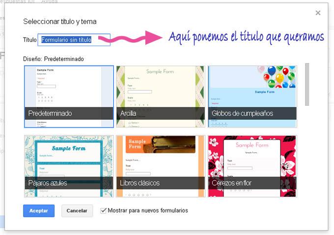 Crear formulario  google plantilla