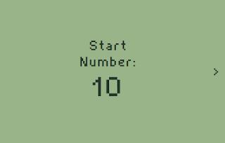 Start number