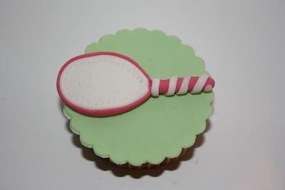 cupcake raqueta de tenis