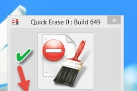 برنامج quick erase لمسح الملفات نهائيا للكمبيوتر اخر اصدار 2016