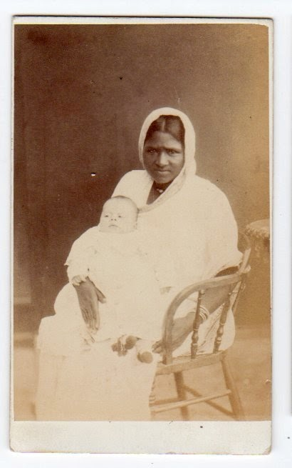 Indian Ayah (Nanny) with a European Baby - 1876