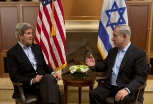 Kerry and Netanyahu.
