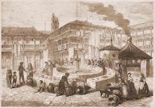 Grabado del Corral del Conde de 1850 - Adolph Rouargue