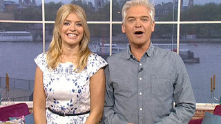 Blue, Cap Sleeve, Dart Detail, Floral Print, Hobbs, Holly Willoughby, Leaf Print, Pleat Detail, Tailored, This Morning, White