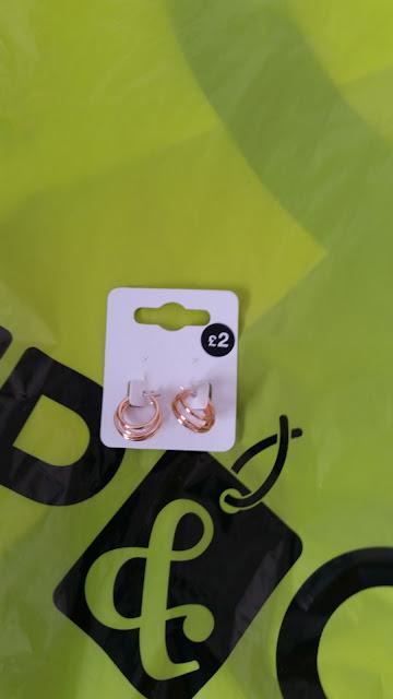 Pep & Co, Rose Gold Hoops earrings