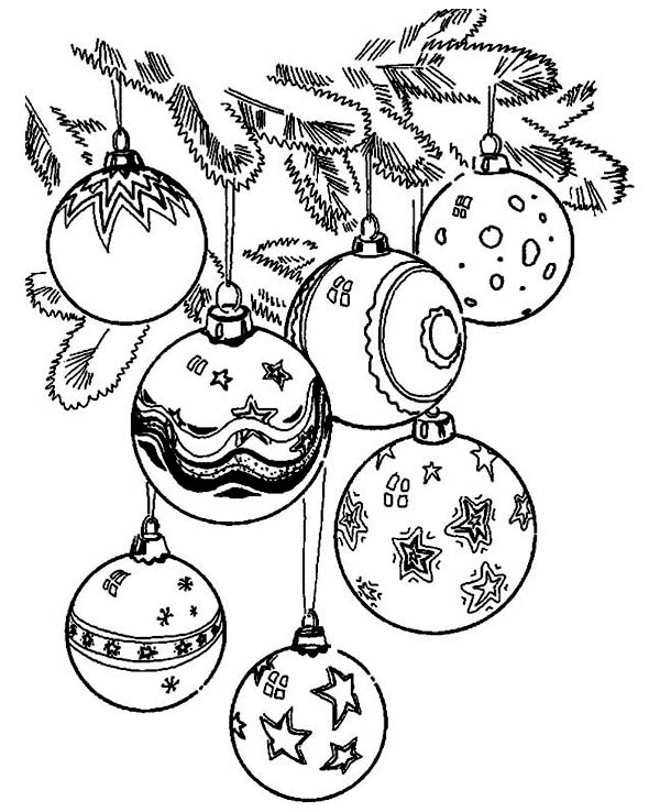 coloring pages of christmas decorations - christmas ornament colouring pages christmas tree