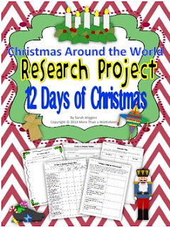 http://www.teacherspayteachers.com/Product/Christmas-Around-the-World-Research-Project-12-Days-of-Christmas-964530