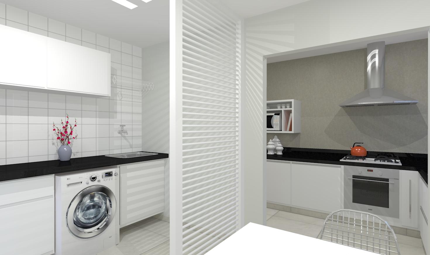 Another Image For Cozinha Americana: 15 Projetos Exclusivos Bella Kaza  #784537 1470 872