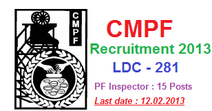 CMPFO Recruitment 2013 - LDC apply Online