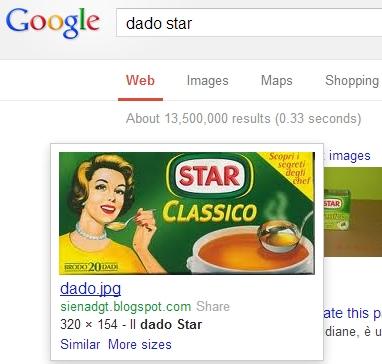 Ricerca di dado Star su Google