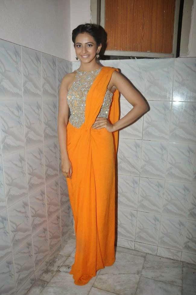 Rakul Preet Sing In Saree Gown