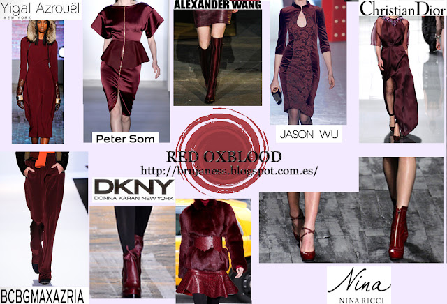 Oxblood color brujaness brujaness's workshop blog red brown dkny peter som jason wu