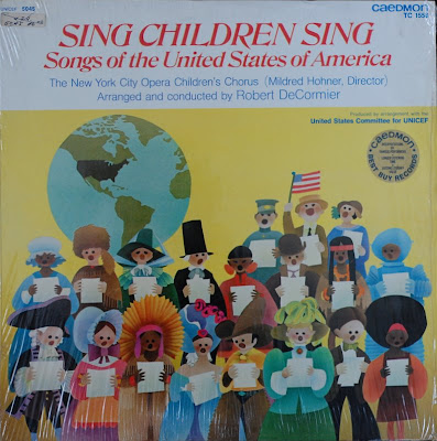 up four lps from the sing children sing series at the thrift shop