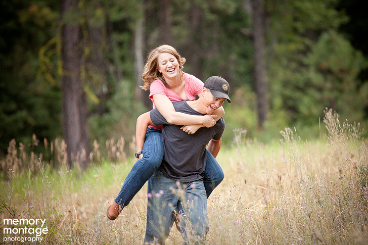 Yakima engagement session in the mountains