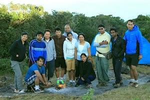 Morning group photo at Kumara Parvatha peak