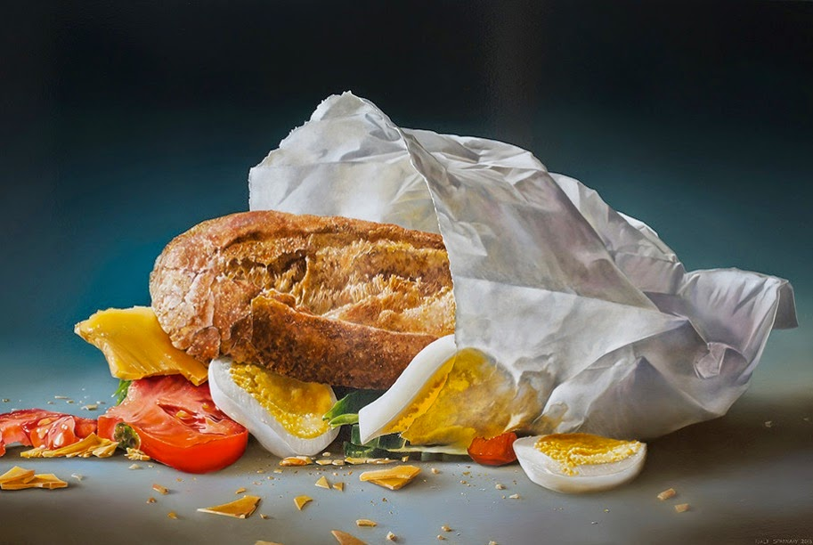 Insane hyperrealistic food paintings design fetish - Hyper cuisine ...