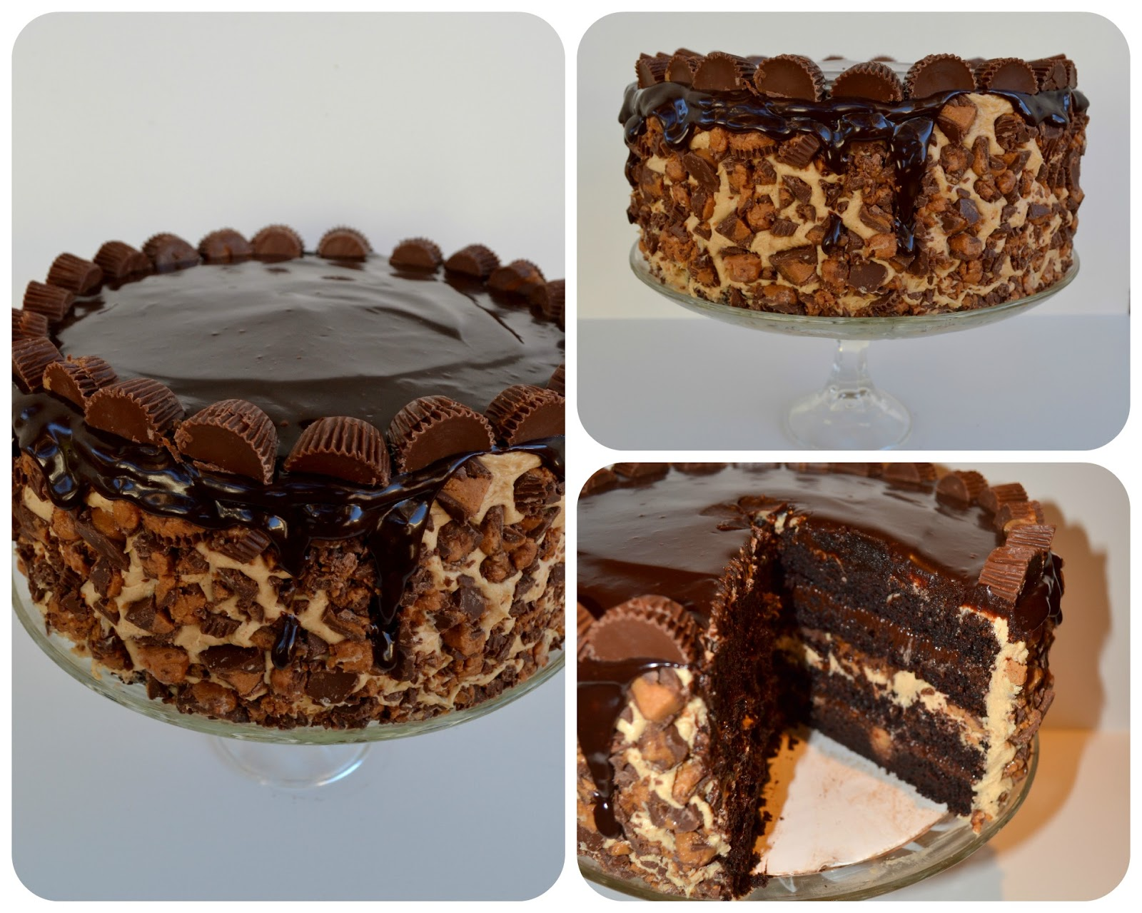 The Ultimate Chocolate Layered Reeses Peanut Butter Cup Birthday Cake ...