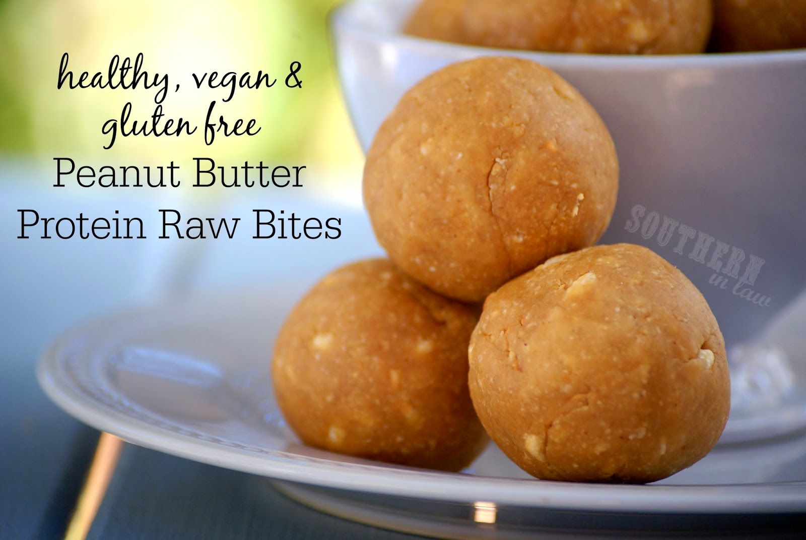 Vegan Peanut Butter Protein Raw Bites - low carb, gluten free, vegan, refined sugar free, no bake, bliss balls, clean eating recipes