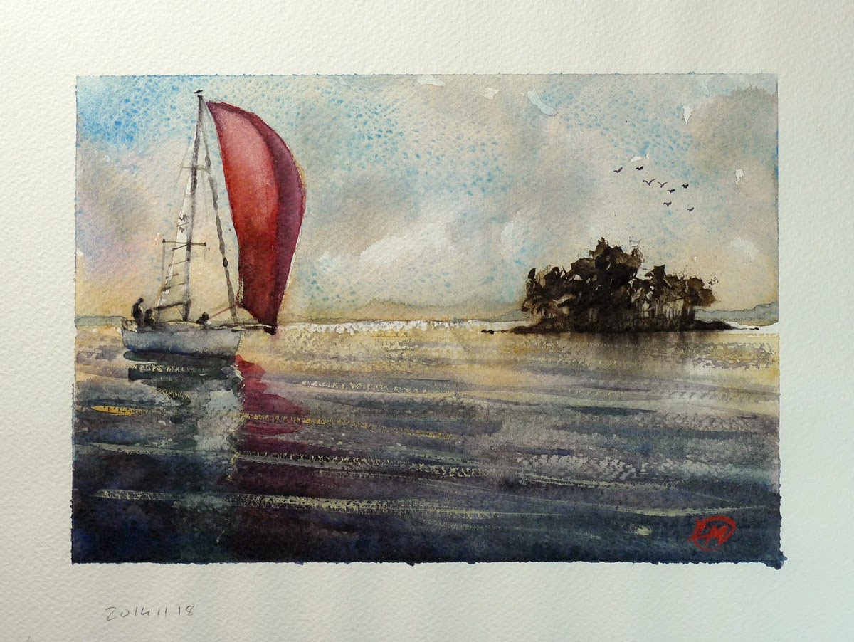 Watercolour by David Meldrum