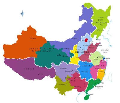 Mapa de China Mapa Región