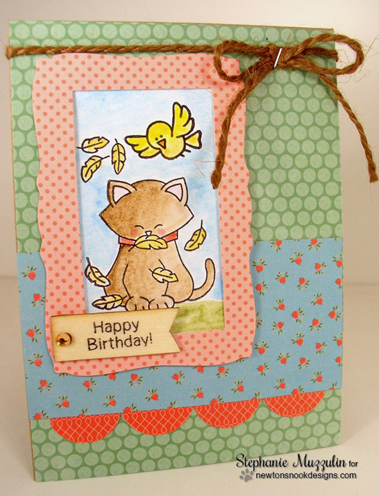 Bird Birthday Card by Stephanie Muzzulin | Newton's Birthday Flutter Stamp set by Newton's Nook Designs