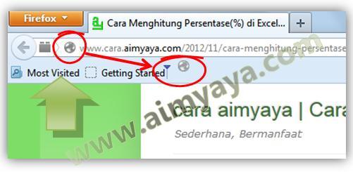 Gambar: Menambahkan website pada toolbar bookmark firefox