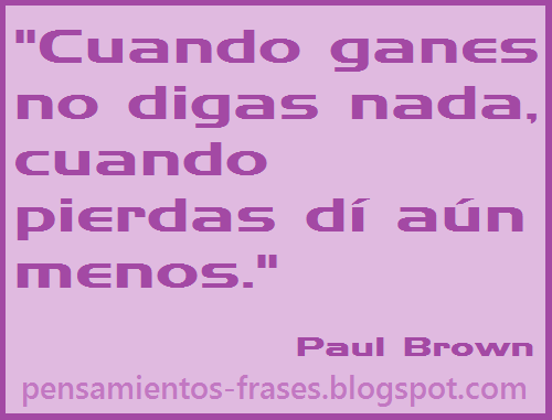 frases de Paul Brown