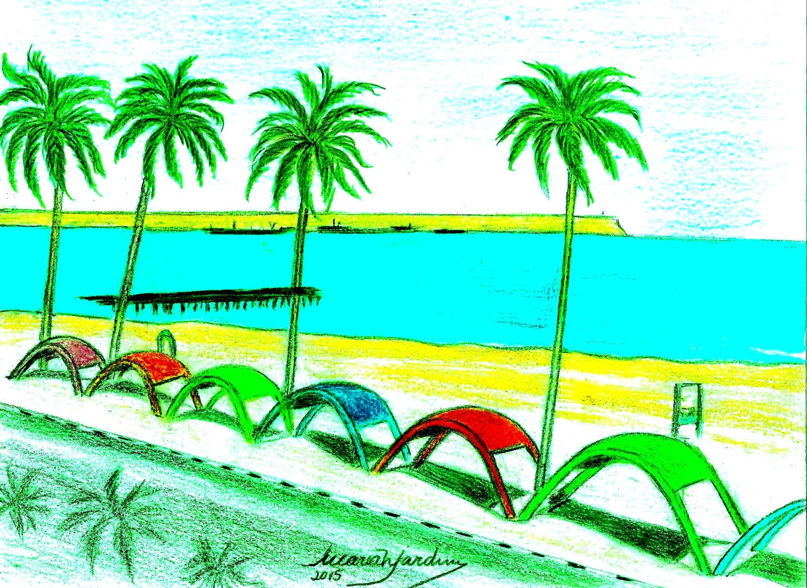 Desenhos de MariaNJardim: Moçâmedes/Namibe, Praia das Miragens by me