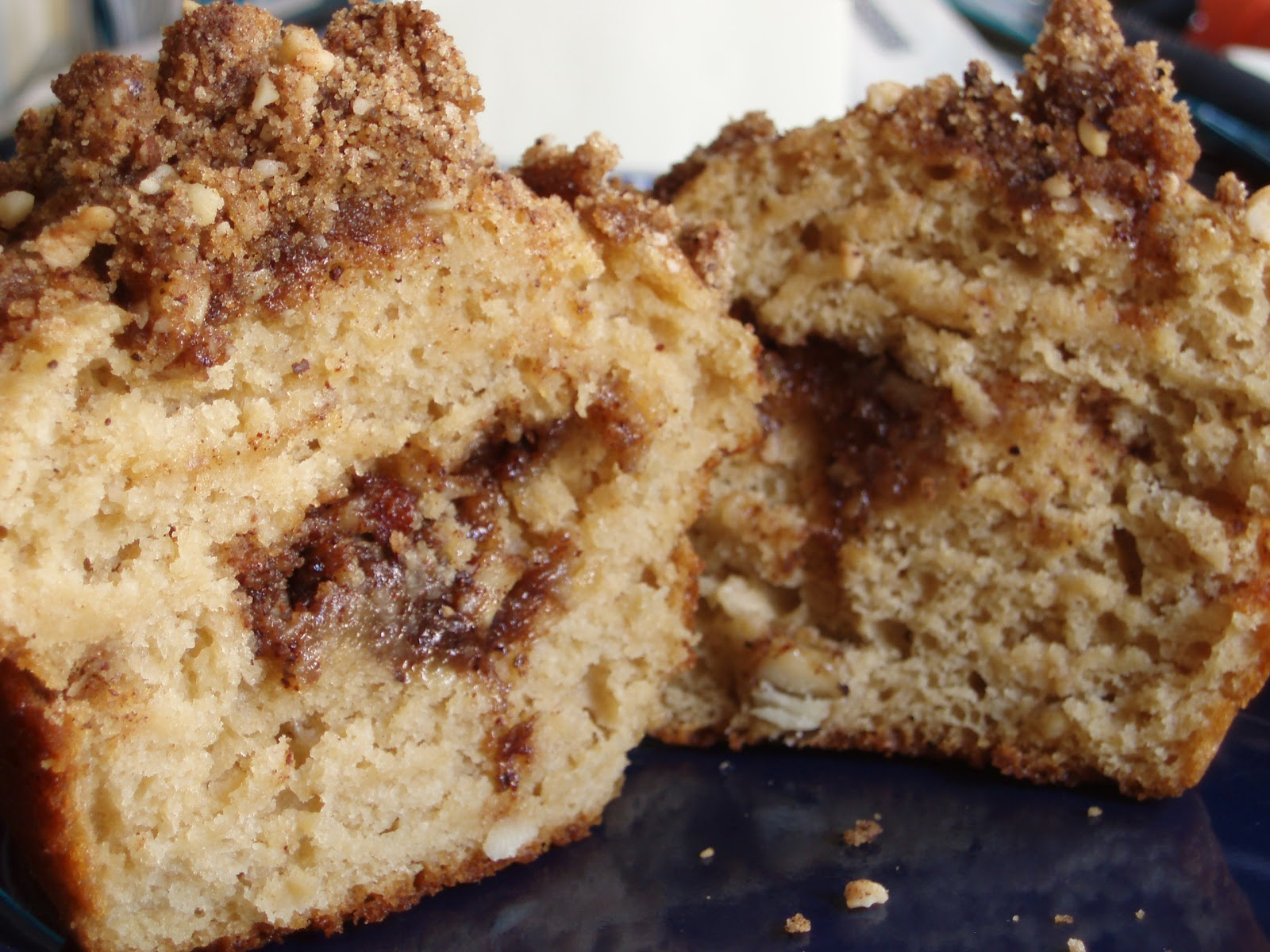 Open Mouth Insert Food: Coffee-Coffee Cake Muffins.