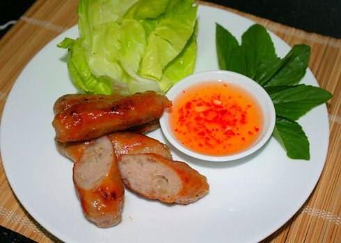 Vietnamese Grilled Chopped Pork Stick - Nem nướng