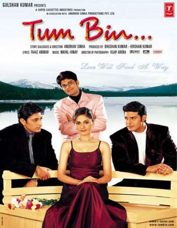 Poster Of Tum Bin 2001 Hindi  300MB  720p  HEVC Watch Online Free Download Worldfree4u
