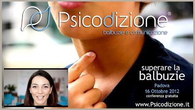 conferenza gratuita sul metodo Psicodizione per il trattamento della balbuzie