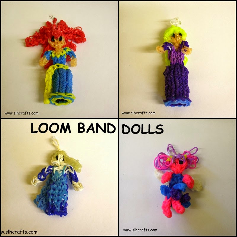 loom band dolls merida elsa rapunzel fairy