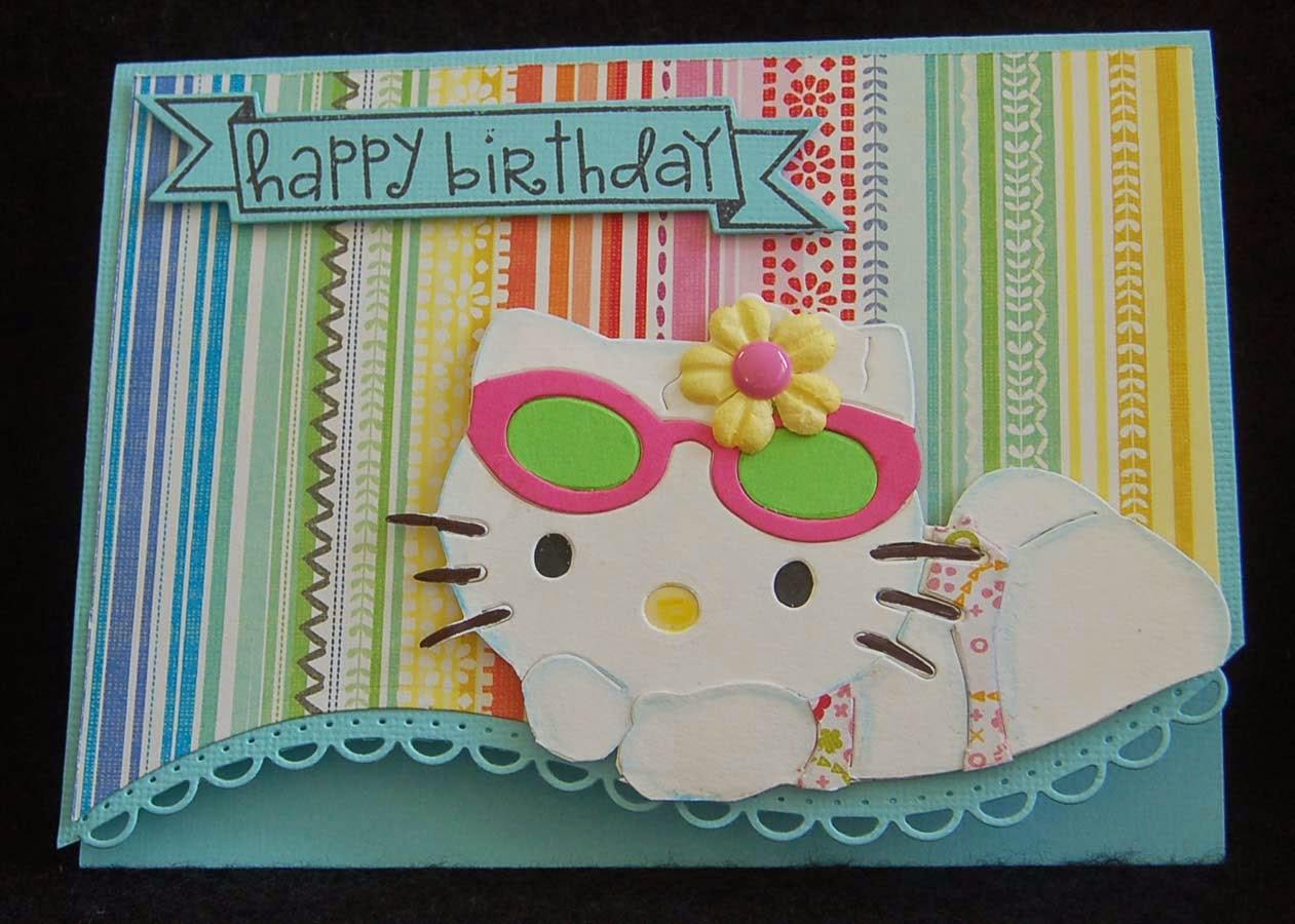Lynn S Craft Blog Hello Kitty Beach Birthday Card