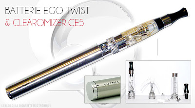 Batterie Ego Twist 900 mAh + Clearomizer CE5