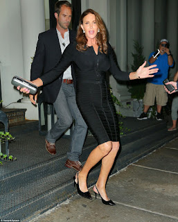 Caitlyn Jenner flaunts beautiful figure as she dined in New York City
