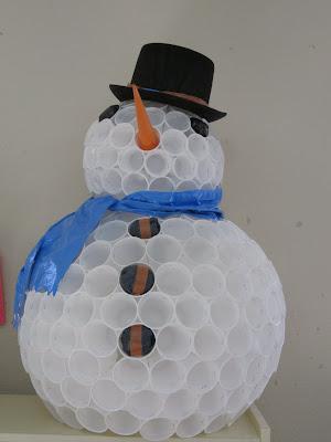 Samoga Especial Muñeco De Nieve Con Vasos De Plástico