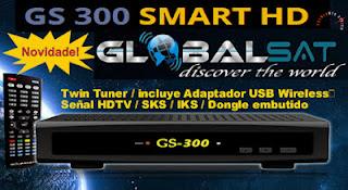 NOVA ATUALIZAÇÃO GLOBALSAT GS 300 DATA: 16/11/2013. GLOBAL300