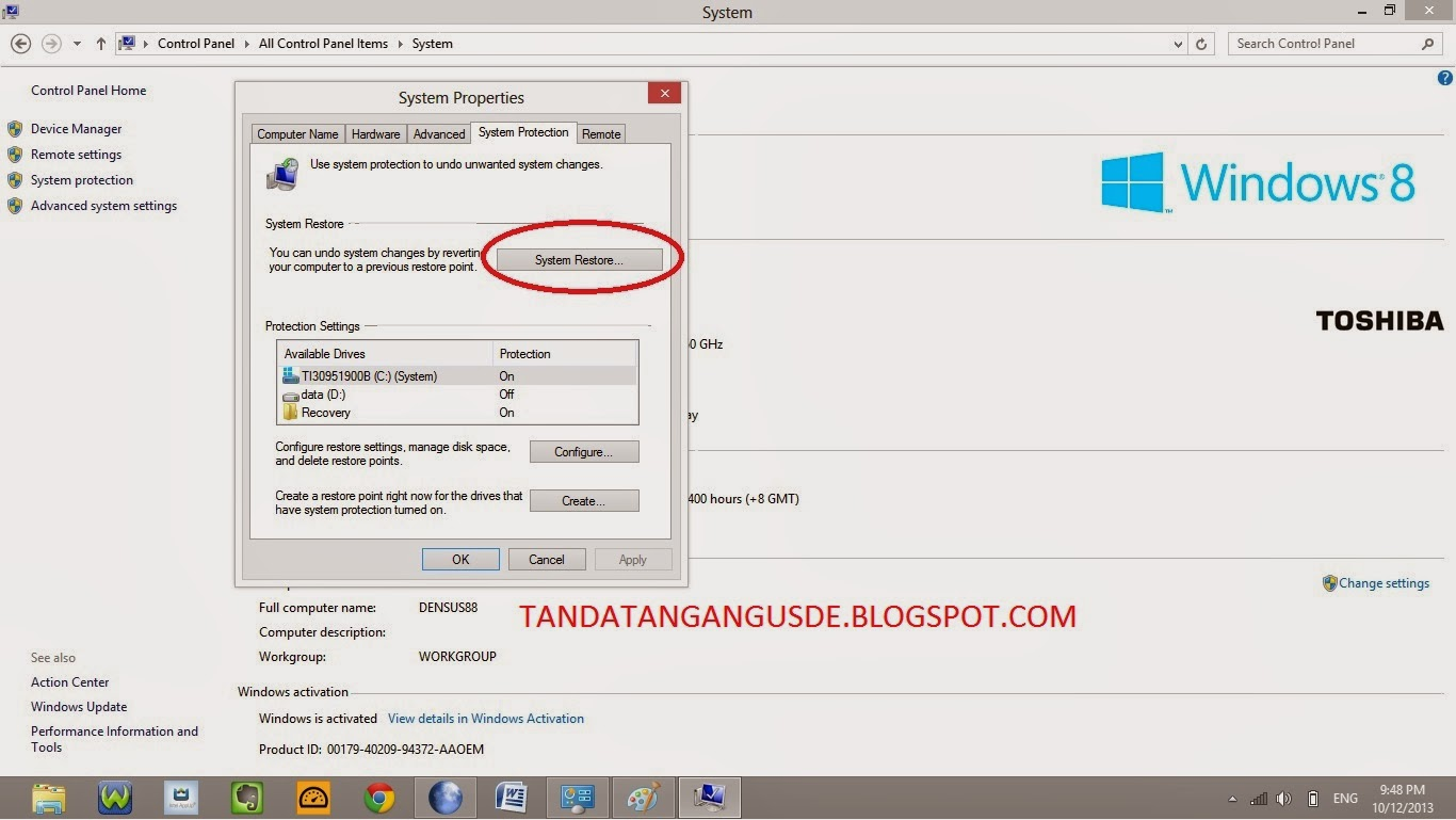 how to restore win 8