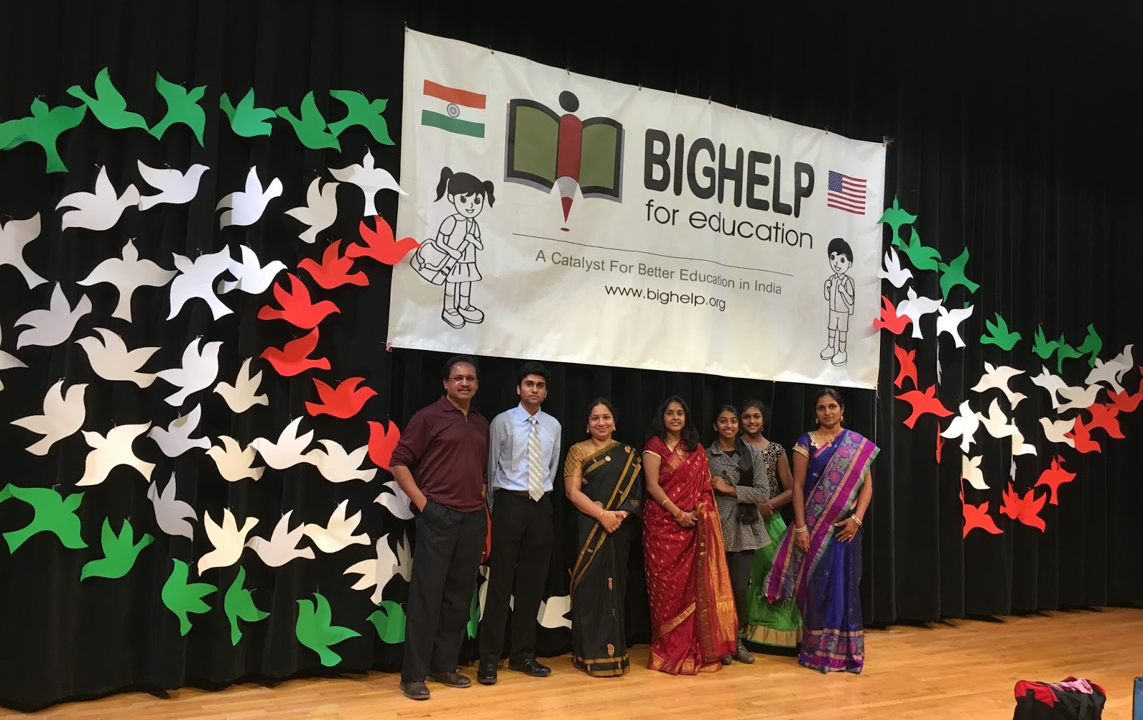My soul on canvas art taking part in bighelp annual event 2016 for Annual day stage decoration images