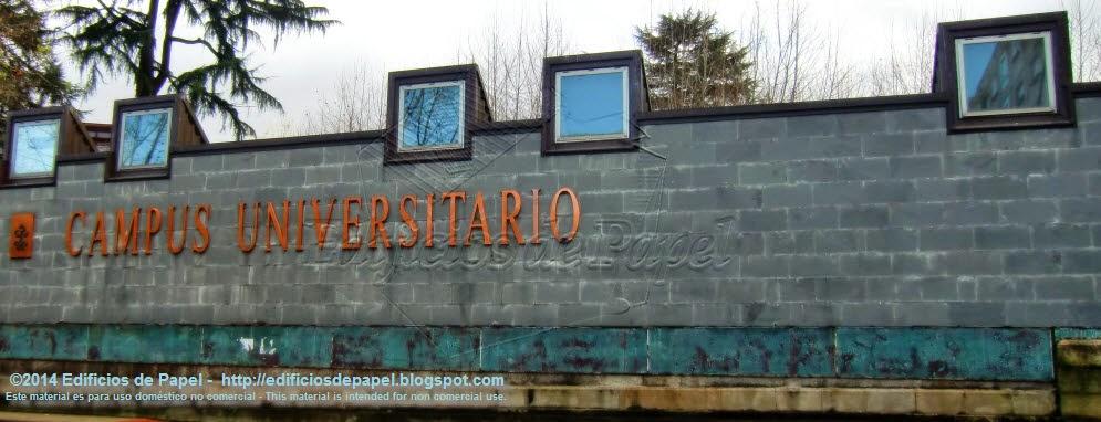 Fachada exterior del Campus Universitario de Ourense