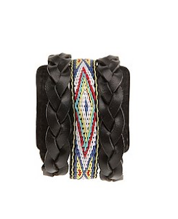 Leather Navaho Cuff Bracelet