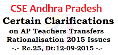 Guidelines, Clarifications,AP Teachers Transfers Rationalisation