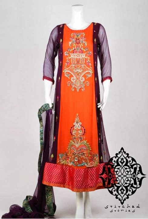 Stitched Stories New Winter Dresses Collection 2014 For Women