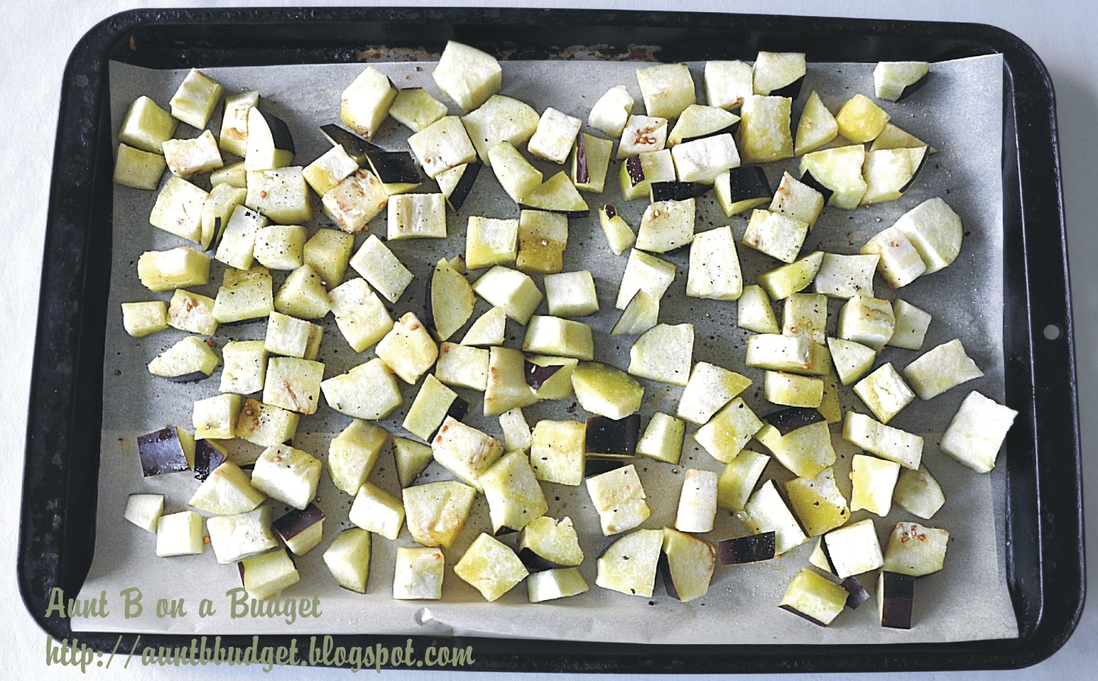 how to cut an eggplant into cubes