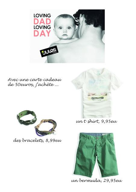 Concours Jules Blog Emily Fashion And Beauty Loving dad, loving day Fête des Pères Cadeau Mode Vêtements Fringues