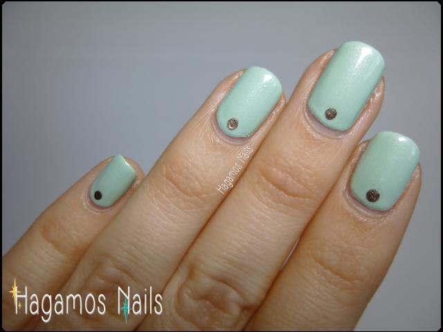 Uñas Verdes Pastel Hagamos Nails