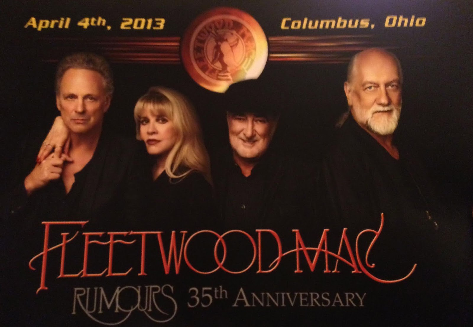 Fleetwood Mac 2014 Tour Poster