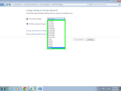 Turn Off Auto Sleep Mode in Windows 7