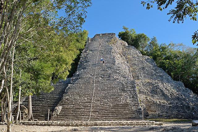 La pyramide Nohoch Mul à Cobá
